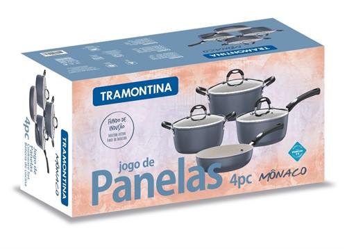 Jogo de Panelas Monaco Roxo 4 pçs Tramontina - 20799/180