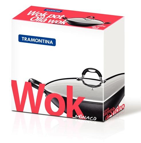 Panela Antiaderente Wok Monaco 36cm Tramontina - 20868/036