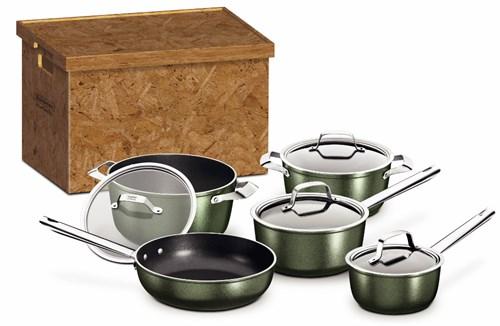 Jogo de Panelas Antiaderente Eco Friendly Verde 5 peças Tramontina - 20899/230