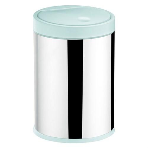 Lixeira Inox Press Branca 4 Litros Brinox - 3050/202