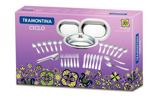 Jogo de Baixelas Inox Ciclo 30 peças Tramontina - 64510/840