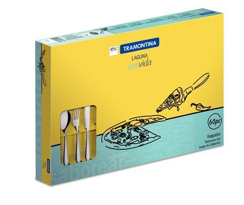 Faqueiro Inox Laguna 60 peças Tramontina - 66906/784