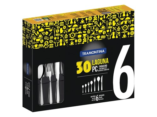 Faqueiro Inox Laguna 30 peças Tramontina - 66906/844