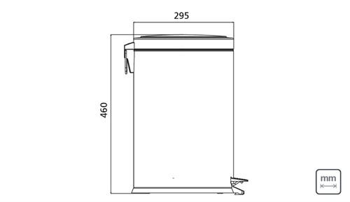 Lixeira Inox com Pedal 20 Litros Tramontina - 94538/120
