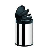 Lixeira Inox Press Preta 4 Litros Brinox - 3050/252