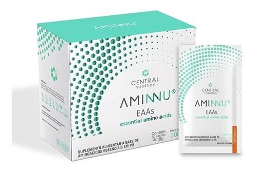 Aminnu 10 g caixa com 30 sachês Tangerina