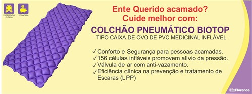 Colchão Pneumático Biotop – Sem Compressor – Bioflorence
