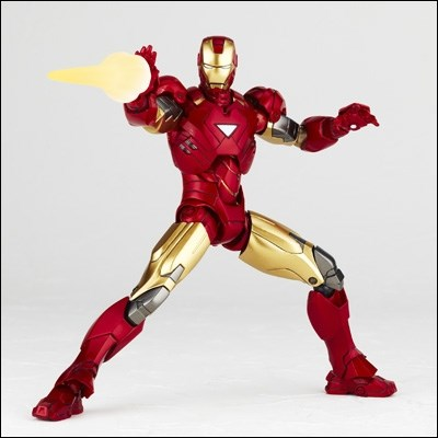 Revoltech Iron Man Mark 2 024 Mark Vi Boneco Homem De Ferro