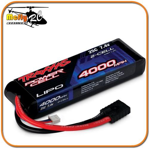 Bateria Traxxas Lipo 4000mah 7.4v 2s Powe Cell 25c # 2841