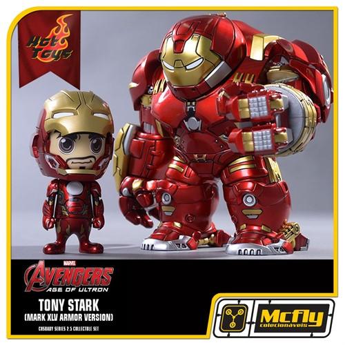 Hot Toys Avengers Cosbaby 2.5 Hulkbuster e Tony Stark Mark XLV