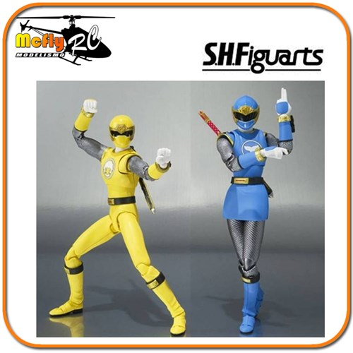 S.H Figuarts Power Ranger Ninja Storm Blue Wind Ranger + Yellow Wind Ranger