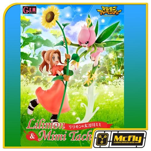 Digimon Lilimon e Tachikawa Mimi Megahouse GEM