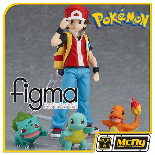 Figma 356 Pokemon Red Bulbasaur Charmander Squirtle