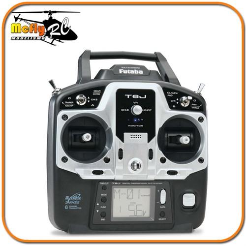 Radio Controle Futaba 6j 2.4ghz + R2006gs Avião Helicoptero