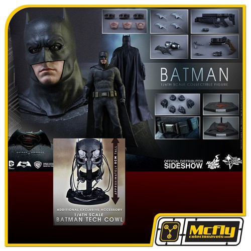 Hot Toys Batman WITH TECH COWL MMS342 Batman v Superman