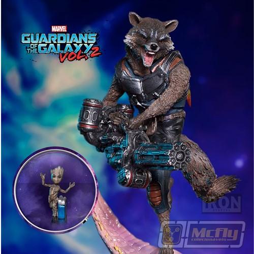 Iron Studios GOTG 2 Rocket & Groot  1/10 BDS Art Scale