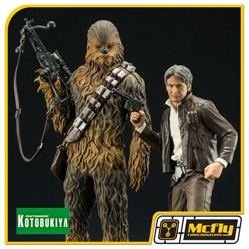 KOTOBUKIYA Star Wars Han Solo e Chewbacca Episode VII ARTFX Statue 1/10