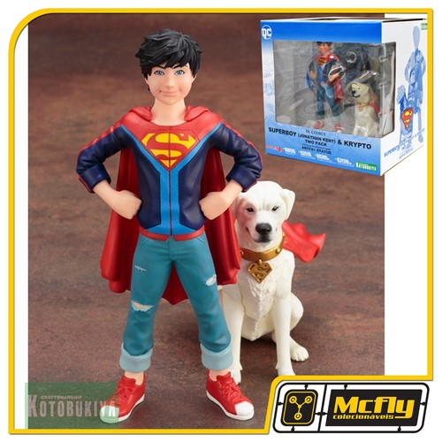 Kotobukiya Superboy Jonathan Kent e Krypto Two Pack