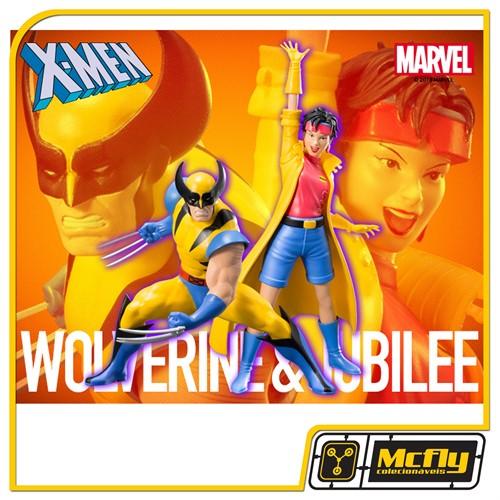 kotobukiya X-Men 92 Wolverine & Jubilee ArtFX+ Statue