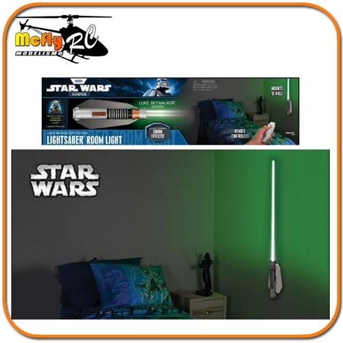 Luminaria 3D Light Star Wars Sabre de Luz Luke com LED