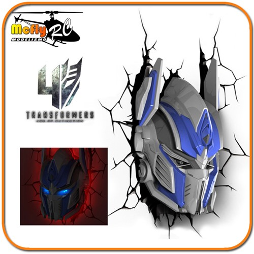 Luminaria 3D Light Transformers Optimus Prime Autoboots com Led