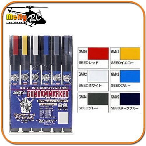 Caneta Gundam Marker HG MG PG GMS109 - Seed Basic Set