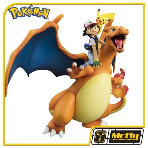 MegaHouse Pokemon Charizard Picashu e Ash