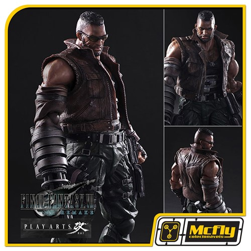 Play Arts Kai No 2 Barret Wallace Final Fantasy VII Remake