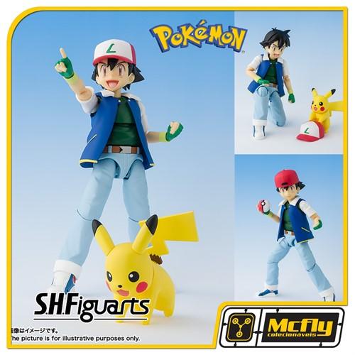 S.H Figuarts Pokemon Ash e Pikachu