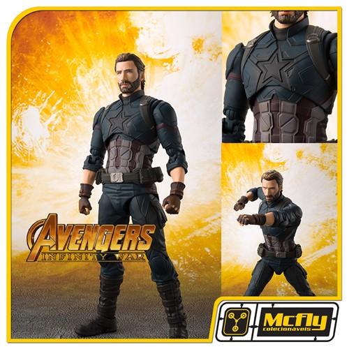 (RESERVA 10% DO VALOR) S.H Figuarts Captain America Avengers Infinity War