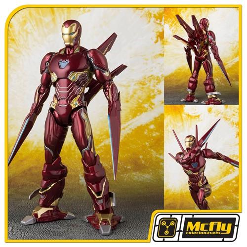 S.H Figuarts Iron Man Mark 50 Ano Arms Set Avengers Infinity War (CAIXA COM PONTA AMASSADA)