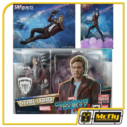 S H Figuarts Star Lord Expositor Set Guardians of the Galaxy 2