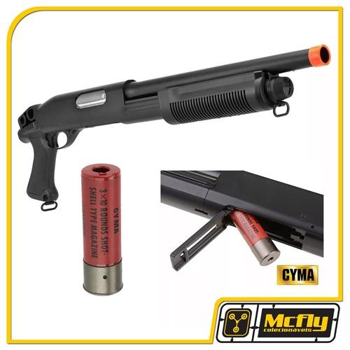 Airsoft Shotgun Cyma Cm351 Modelo M870 Escopeta Calibre 12 6mm