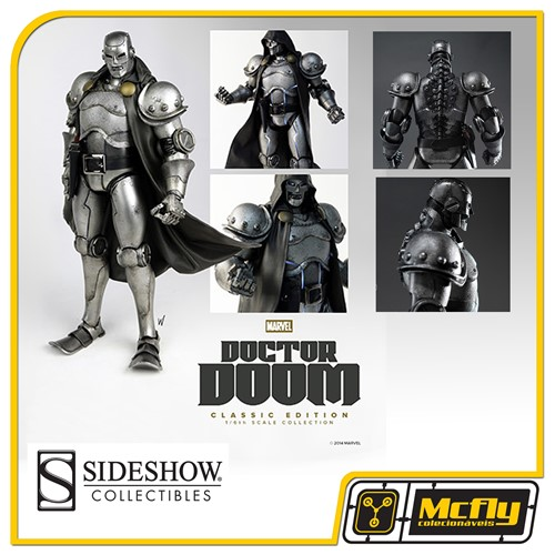 Sideshow Doctor Doom Classic Editon Sixth Scale Figure Marvel 1/6