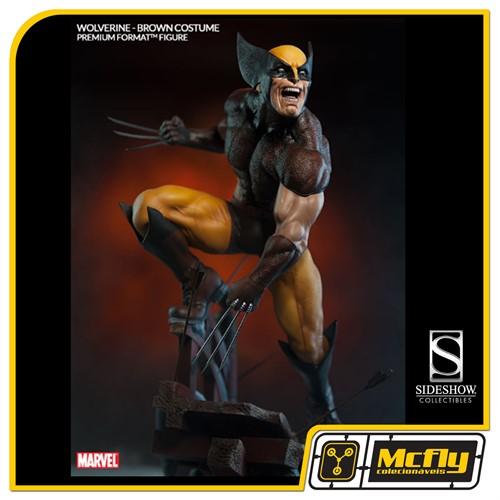 Sideshow Wolverine Brown Costume Premium Format Logan