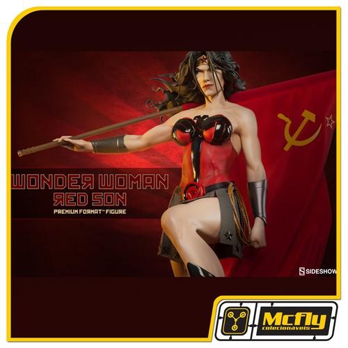 Sideshow Wonder Woman Red Son Premium Format Mulher Maravilha