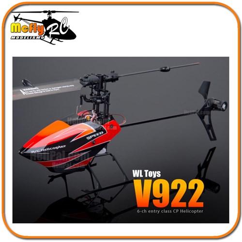 Micro Helicoptero V922 Fbl 3d 2.4ghz 6 Canais