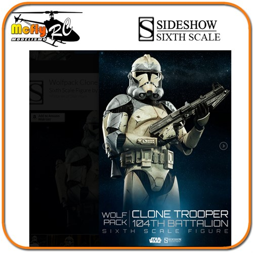 Star Wars Wolfpack Clone Trooper 104th Sixth Scale Sideshow