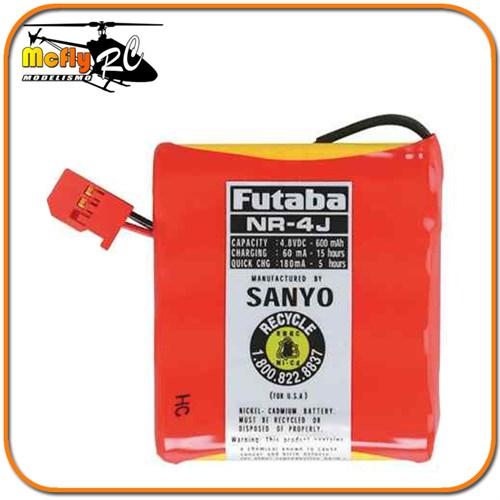 Bateria Futaba Nr-4j 4.8v 600mah Sanyo P/ Receptores E Servo