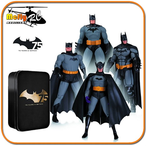 Batman 75th Anniversary Action Figure 4-pack Set Limitado