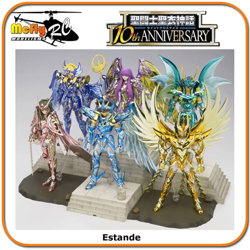 Cavaleiros Do Zodiaco Cloth Myth 10th Anniverssary Dx Stand Pedestal
