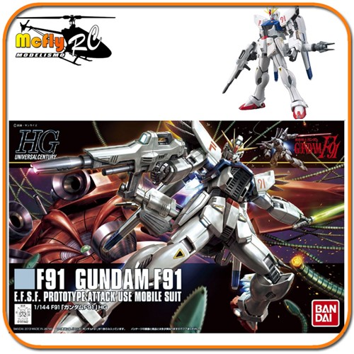 Gundam 1/144 #167 HGUC Universal Century F91 E.F.S.F Prototype Attack Use Model Kit