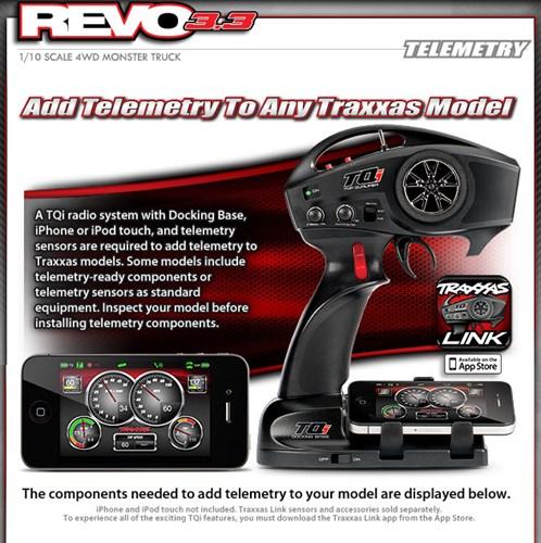 Traxxas Revo 3.3 # 5309, Ré,Tqi 2.4ghz, E Baterias Docking 2014