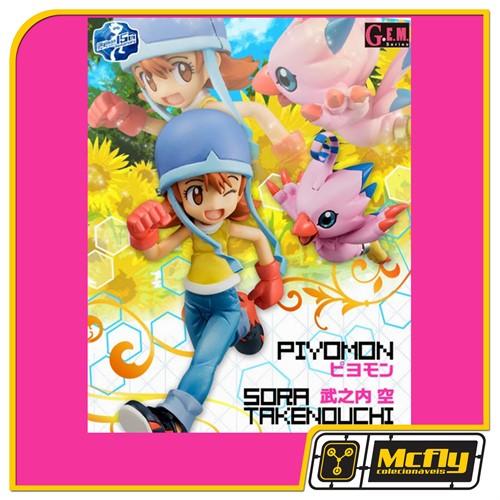 Digimon Sora Takenouchi e Piyomon Mega house G.E.M