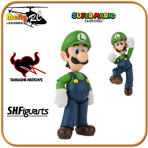 S.h Figuarts Super Mario Luigi Nitendo Moving