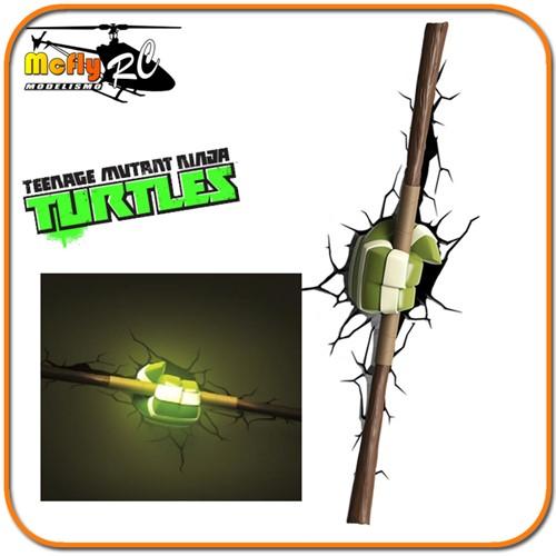 Luminaria 3D Light Tartaruga Ninja Bastao Donatello com LED, Turtle