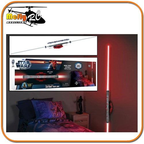 Luminaria 3D Light Star Wars Sabre de Luz Darth Maul comLED e Som