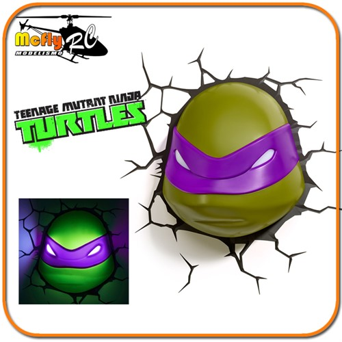 Luminaria 3D Light Tartaruga Ninja Donatello com LED, Turtles