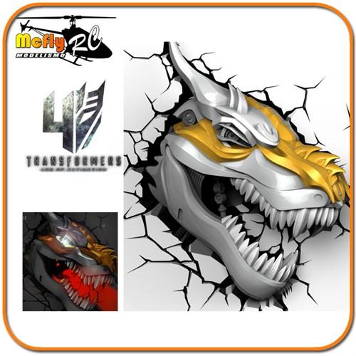 Luminaria 3D Light Transformers Grimlock com Led