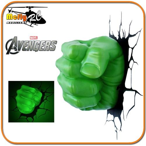 Luminaria 3D Light Hulk Avengers com Led